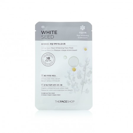 Маска на основе белых семян THE FACE SHOP White Seed Real Whitening Face Mask